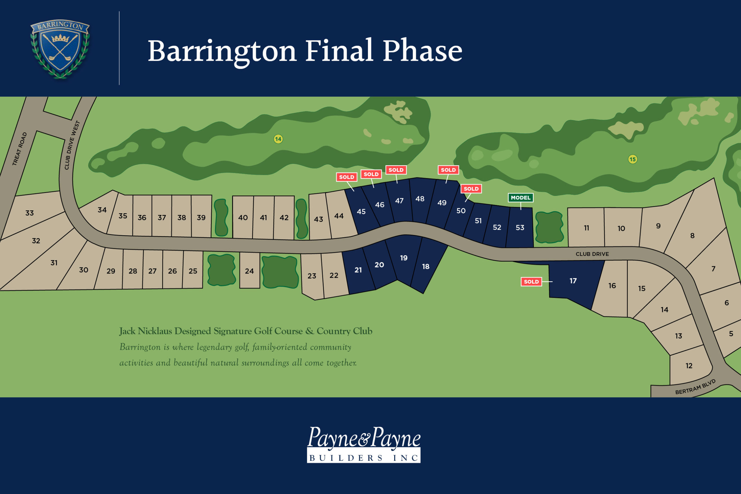 Barrington Estates map